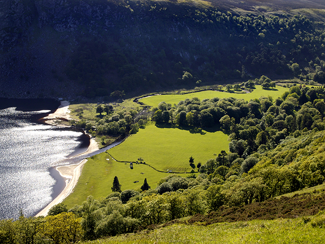 Wicklow Mountains and Lough Dan